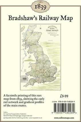 Bradshaw's Railway Map 1839