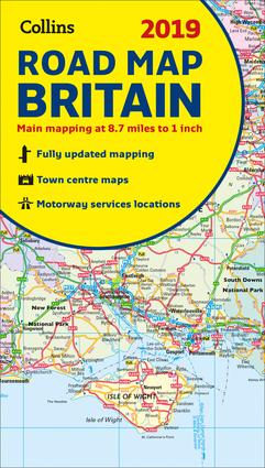 2019 Collins Road Map Britain