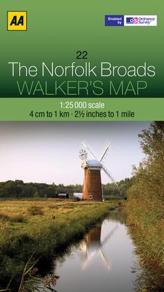 Walker's Map The Norfolk Broads