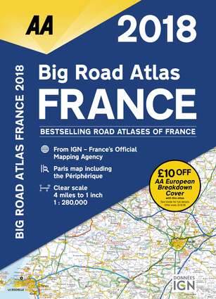 2018 Big Road Atlas France