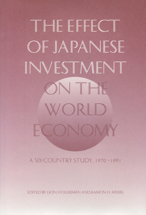 The Effect of Japanese Investment on the World Economy