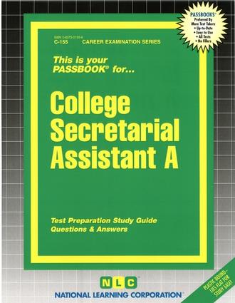 College Secretarial Assistant A
