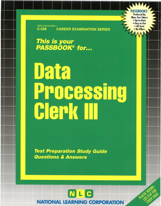 Data Processing Clerk III