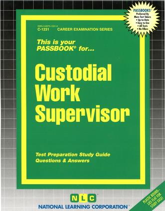 Custodial Work Supervisor