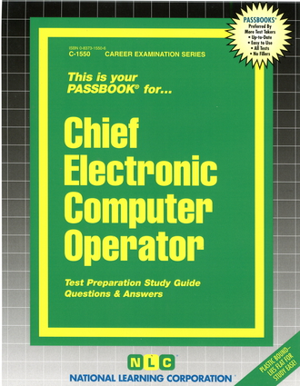Chief Electronic Computer Operator