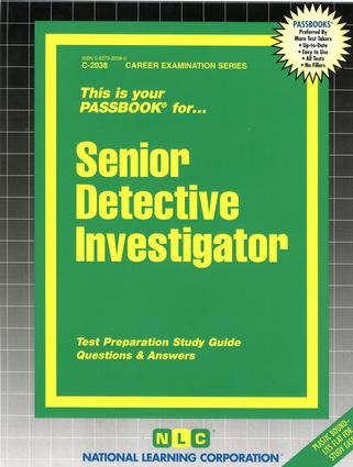 Senior Detective Investigator