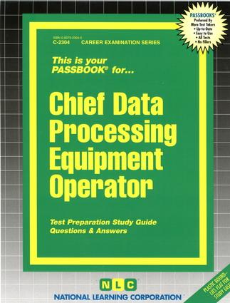 Chief Data Processing Equipment Operator