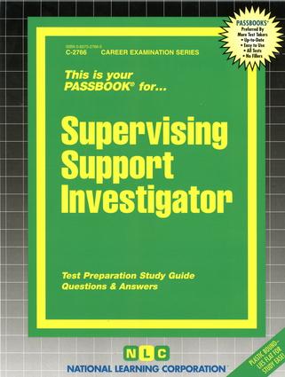 Supervising Support Investigator