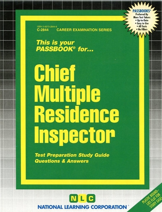 Chief Multiple Residence Inspector