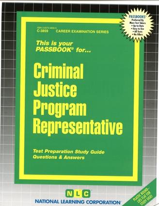 Criminal Justice Program Representative