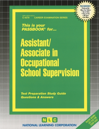 Assistant/Associate in Occupational School Supervision