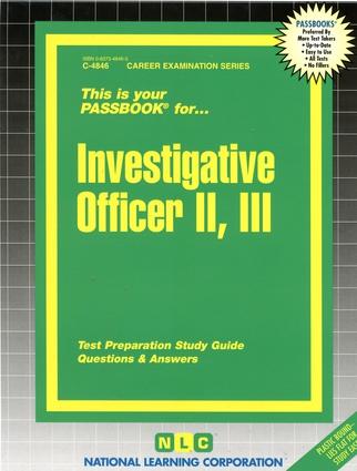 Investigative Officer II, III