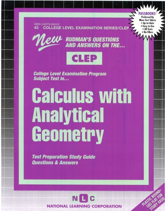 CALCULUS WITH ANALYTICAL GEOMETRY