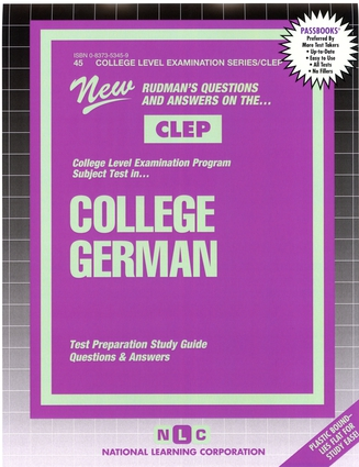COLLEGE GERMAN (German Language) *Includes CD