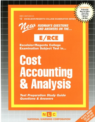 COST ACCOUNTING & ANALYSIS