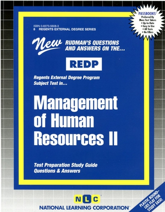 MANAGEMENT OF HUMAN RESOURCES II