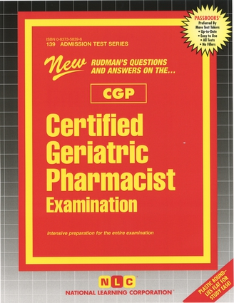 Commission for Certification in Geriatric Pharmacy (CCGP)