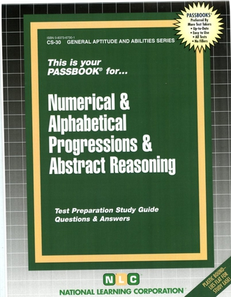 NUMERICAL & ALPHABETICAL PROGRESSIONS & ABSTRACT REASONING