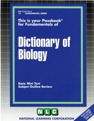 DICTIONARY OF BIOLOGY