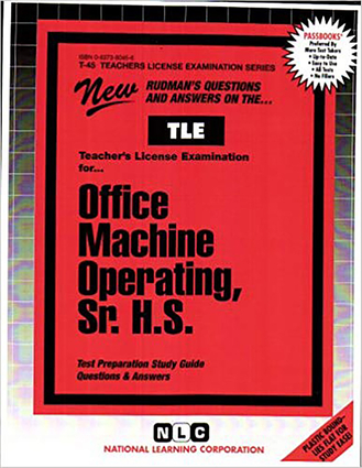 Office Machine Operating, Sr. H.S.