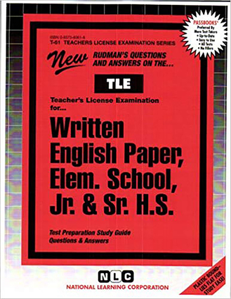 Written English Paper, Elementary School, Jr. & Sr. H.S.
