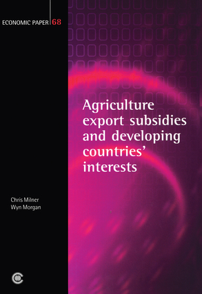 Agricultural Export Subsidies and Developing Countries' Interests