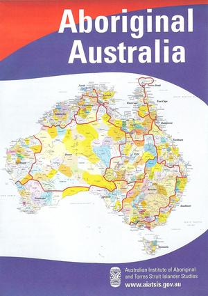 Aboriginal Australia Map - small folded