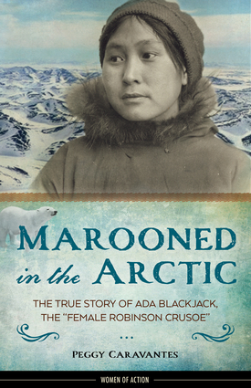 Marooned in the artic - book cover
