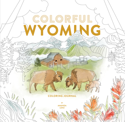 Colorful Wyoming Coloring Journal
