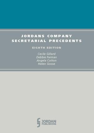 Jordans Company Secretarial Precedents