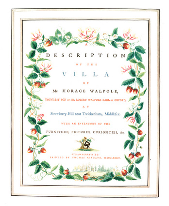 A Description of the Villa of Mr. Horace Walpole