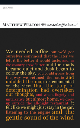 'We Needed Coffee But . . .'