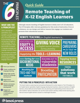 The 6 Principles® Quick Guide: Remote Teaching of K–12 English Learners (pack of 25)