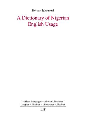 A Dictionary of Nigerian English Usage