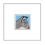 Animal Pop-Up Card: Zebra