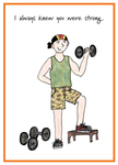Man lifting light dumbbell