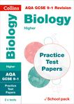Collins GCSE 9-1 Revision – AQA GCSE Biology Higher Practice Test Papers