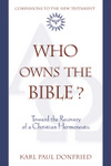 Who Owns the Bible?