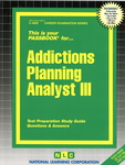 Addictions Planning Analyst III