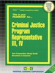 Criminal Justice Program Representative III, IV