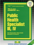 Public Health Specialist III, IV