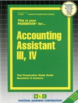 Accounting Assistant III, IV
