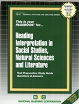 READING INTERPRETATION IN SOCIAL STUDIES, NATURAL SCIENCES AND LITERATURE