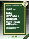READING INTERPRETATION IN SOCIAL STUDIES, NATURAL SCIENCES AND LITERATURE