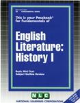 ENGLISH LITERATURE: HISTORY I