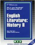 ENGLISH LITERATURE: HISTORY II