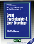 GREAT PSYCHOLOGISTS & THEIR TEACHINGS