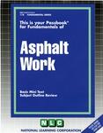 ASPHALT WORK