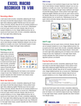 Excel Macro Recorder to VBA Laminated Tip Card