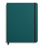 Shinola Journal, HardLinen, Plain, Dark Teal (7x9)